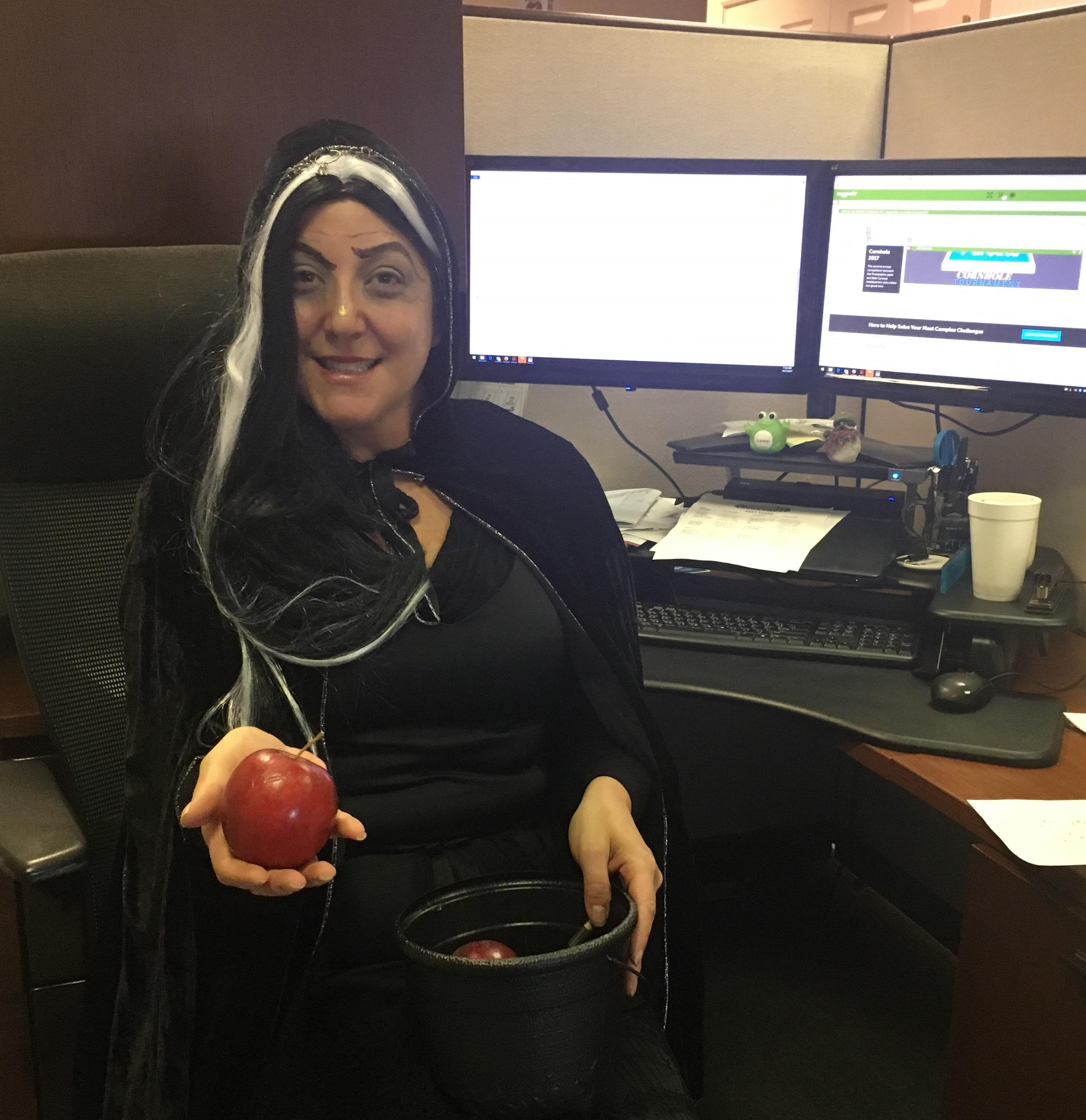andrea bartus with apple_halloween 2017