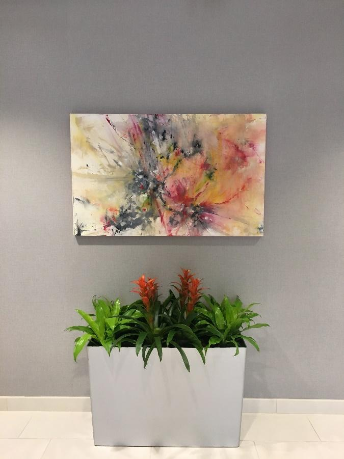 plants with painting
