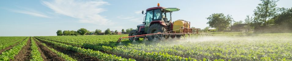 crop spraying with chemicals