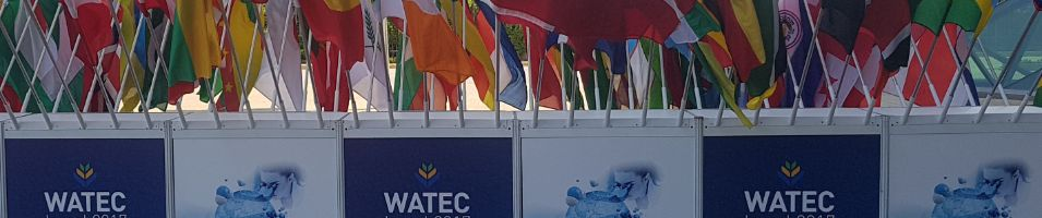 Watec conference in israel outddor flag display