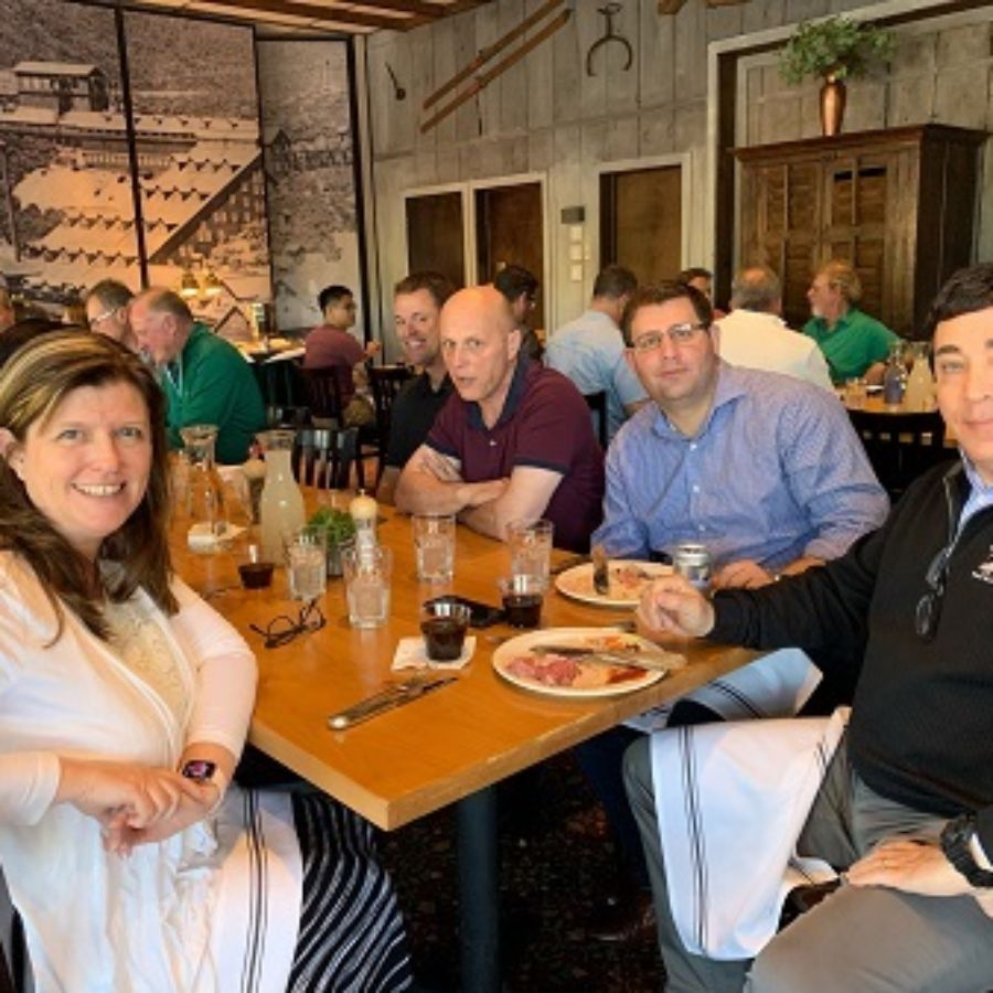 Sales group at Grubbs Steakhouse