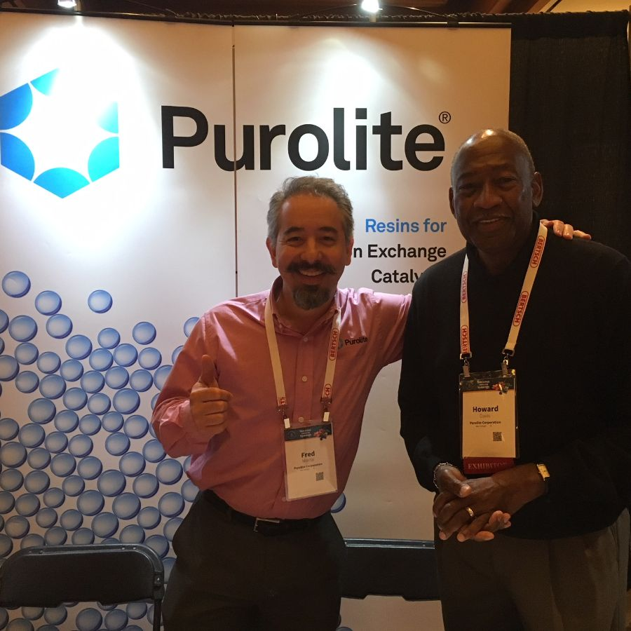 purolite visitor at booth