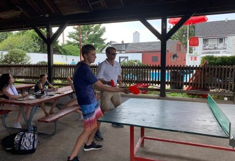 ping pong doubles