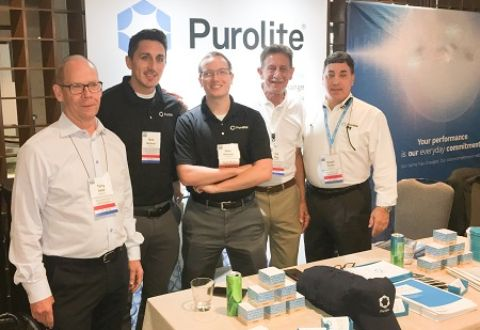 purolite group on the show floor