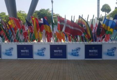 Watec Conference 2017 flag display