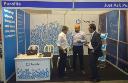 Purolite discusses water treatment using ion exchange resins at Watec