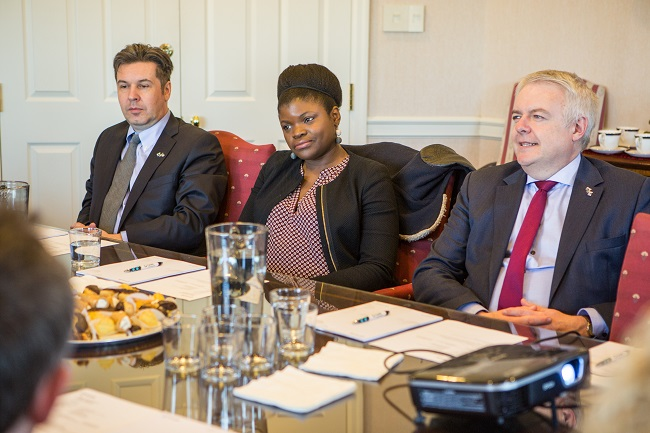 First Minister of Wales Visit 1-Carwyn Efe Gareth