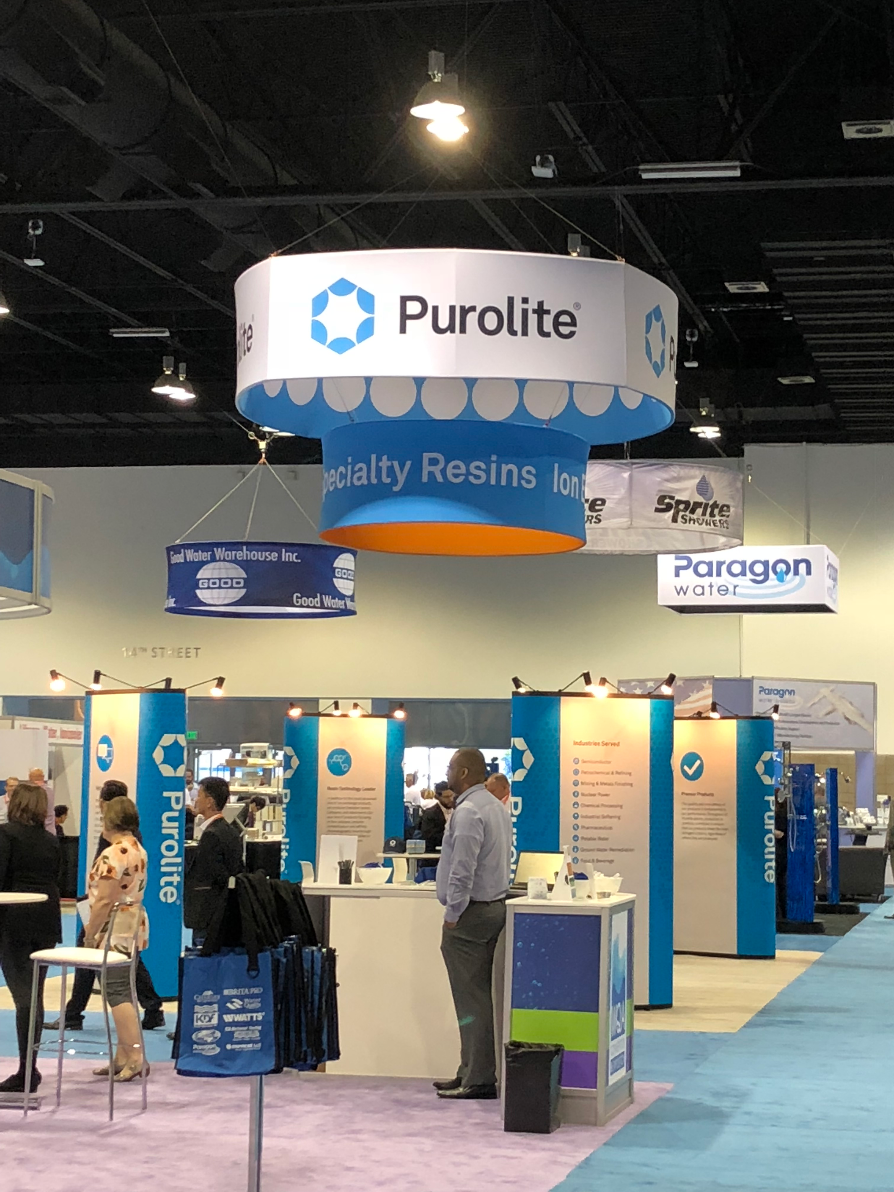 Purolite booth at WQA in Denver 2018