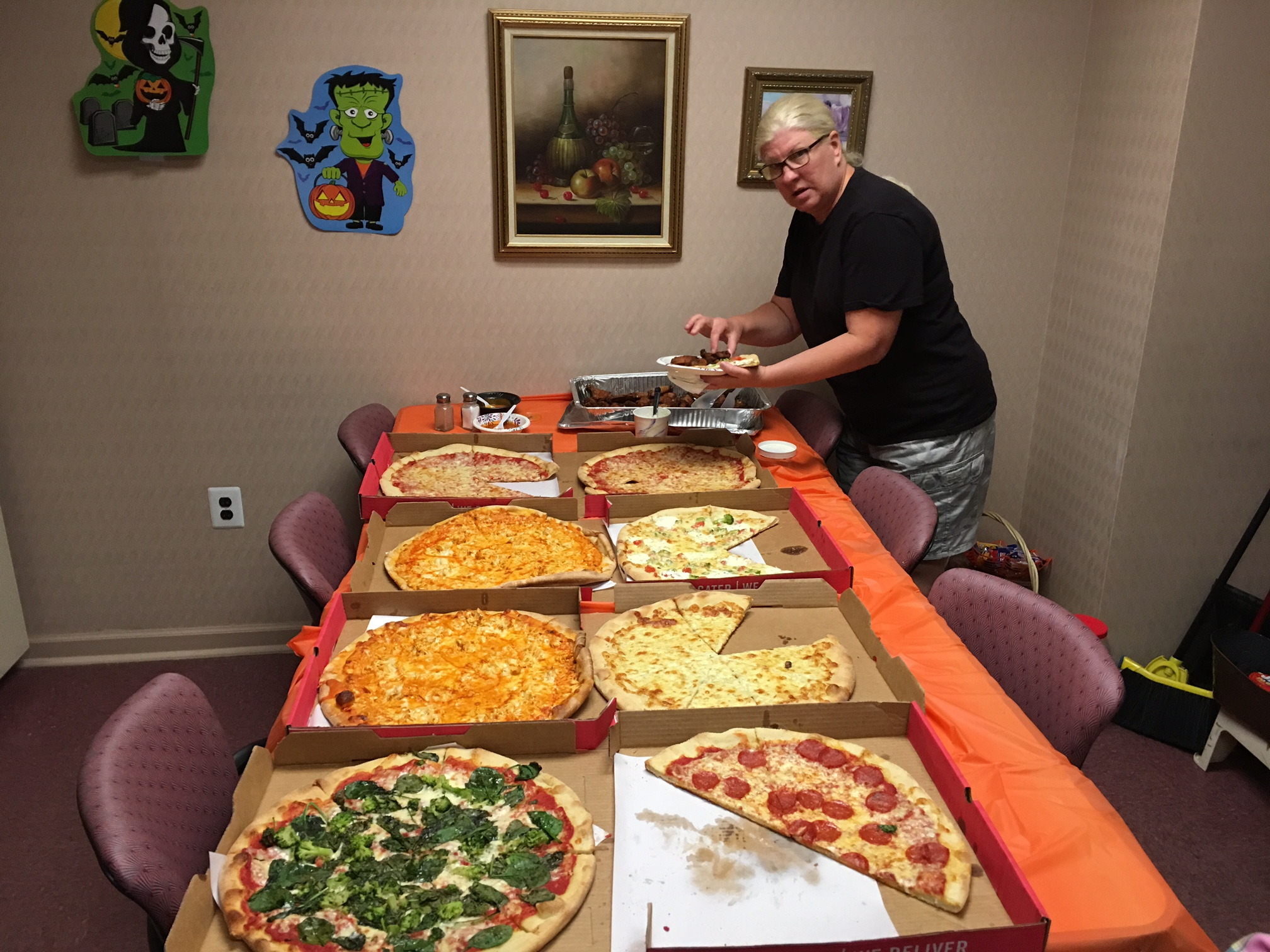 pizza party-halloween 2017