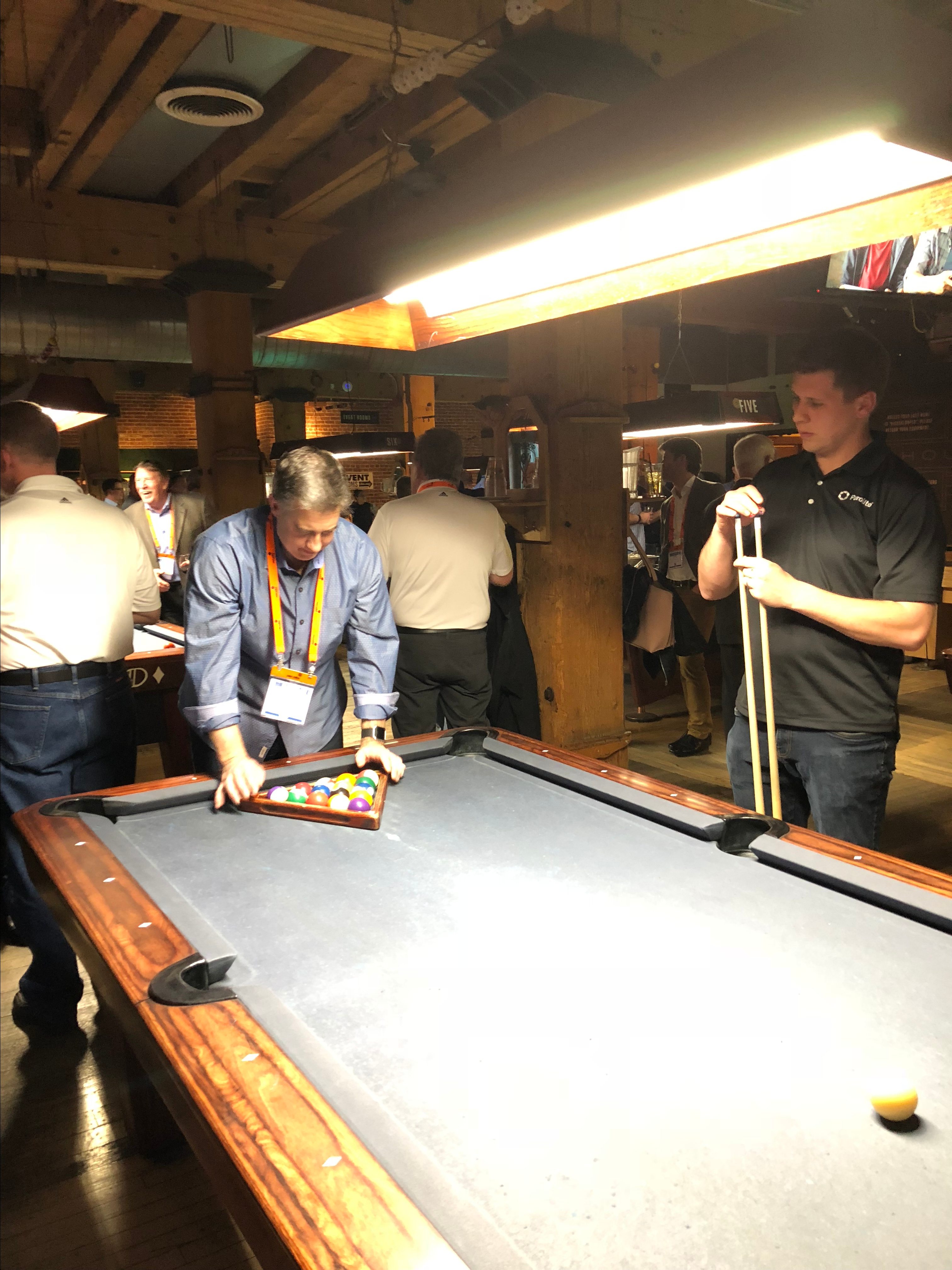 Purolite playing pool at the WQA welcome reception